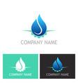 water drop abstract gear logo vector image