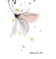 watercolor art with natural gentle floral vector image