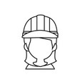 woman worker faceless vector image