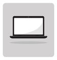 flat icon laptop vector image
