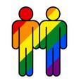 people lgbt movement rainbow flag vector image
