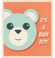 Baby Boy Arrival Card vector image