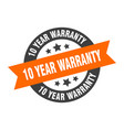 10 year warranty sign 10 year warranty vector image vector image