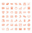49 financial icons vector image vector image