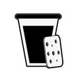 biscuits with glass of milk pastry related icon vector image vector image
