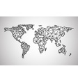 Black abstract world map vector image vector image