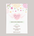 bridal shower invitation template simple design vector image