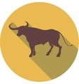 Bull sign vector image