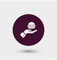 burger icon simple vector image vector image
