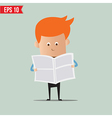 Business man reading newspaper - - EPS10 vector image vector image