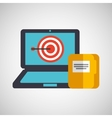 business strategy technology folder file vector image