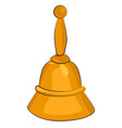 cartoon image of bell icon vector image vector image