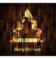 Christmas Backgraound with a stylish tree vector image