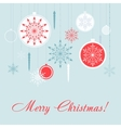 Christmas decorations card set New Year vector image vector image