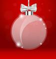 Christmas greeting card with Christmas ball vector image vector image