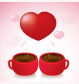coffee love valentine day vector image vector image