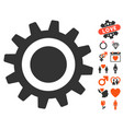 cog icon with lovely bonus vector image vector image