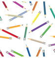 colorful pencil pattern crayon seamless vector image