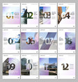 creative brochure templates with numbers easy to vector image vector image