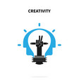 creative light bulbpencils and human heads vector image vector image