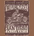 custom american motorcycle vintage poster vector image