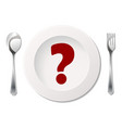 cutlery with sign vector image vector image