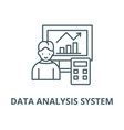 data analysis system line icon linear vector image vector image