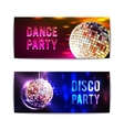 Disco Party Banners Horizontal vector image vector image