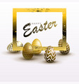 easter composition with a silhouette of eggs of a vector image vector image