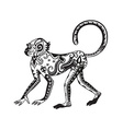 Ethnic ornamented monkey vector image vector image