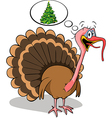fat turkey do not like christmas vector image vector image