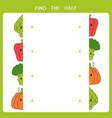 find half for vegetable vector image vector image