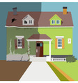 Flip the house vector image vector image