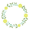 floral wreath on white background vector image
