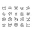 fortune telling line icon set vector image