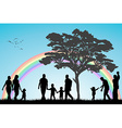 Gay and lesbian couples and family with children vector image