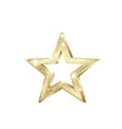 golden star shiny christmas decoration element vector image vector image