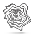 Gray and white marble style abstract shape vector image vector image