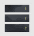 horizontal banner set template with dark paper vector image