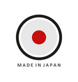 icon made in japan vector image