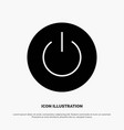 interface on power ui user solid glyph icon vector image vector image