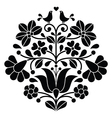 Kalocsai black embroidery - Hungarian floral folk vector image vector image