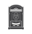 mail box post outline icon vector image vector image