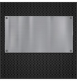 Metal plate over grate texture vector image vector image