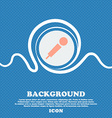 microphone sign icon Blue and white abstract vector image