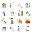 Painter icons set flat vector image vector image