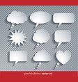 paper cut style speech bubbles vector image vector image