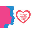 parents day - annual holiday that celebrated on vector image