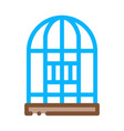 parrot cage icon outline vector image