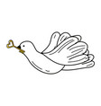 peace dove cartoon vector image